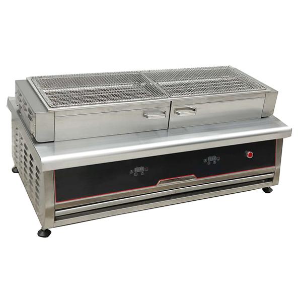 仿木碳型开启式烧烤炉